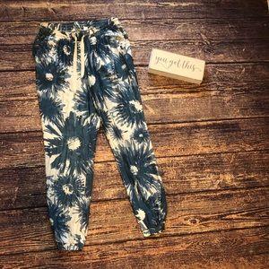 🌀Adidas Originals| Blue Floral Paint Splat Pants